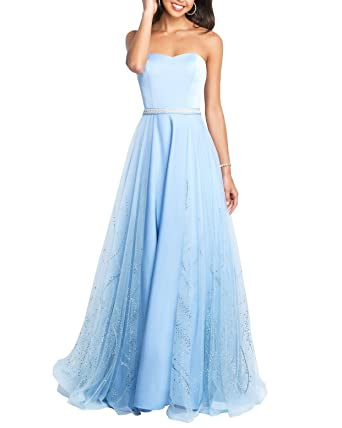 Lava-ring Womens Sweetheart Prom Dress Long Strapless Beaded Homecoming Dresses at Amazon Womens Clothing store: