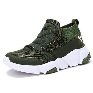 28efb79c70405 VITIKE Kinder Hallenschuhe Jungen Sportschuhe Mädchen Laufschuhe Sneaker  Outdoor für Unisex-Kinder