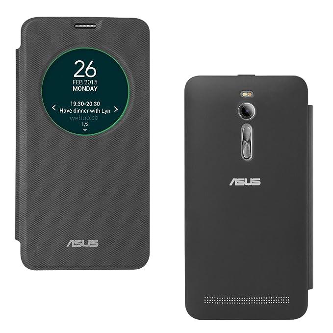 reputable site 12f70 70722 DMG Smart Circle View Flip Book Cover Case for Asus Zenfone 2 (Black)