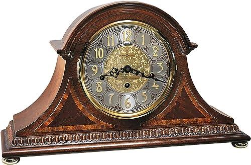 Howard Miller Webster Mantel Clock 613-559 Windsor Cherry, Key Wound Triple Chime Movement