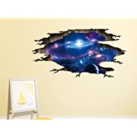 Amazon Brand - Solimo Wall Sticker for Kids' Room (Space Break, Ideal Size on Wall, 113 cm X 58 cm)