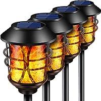 10 x LED Solarleuchte hängend Glas Outdoor Terrasse Beleuchtung Glühbirne 9x6 cm