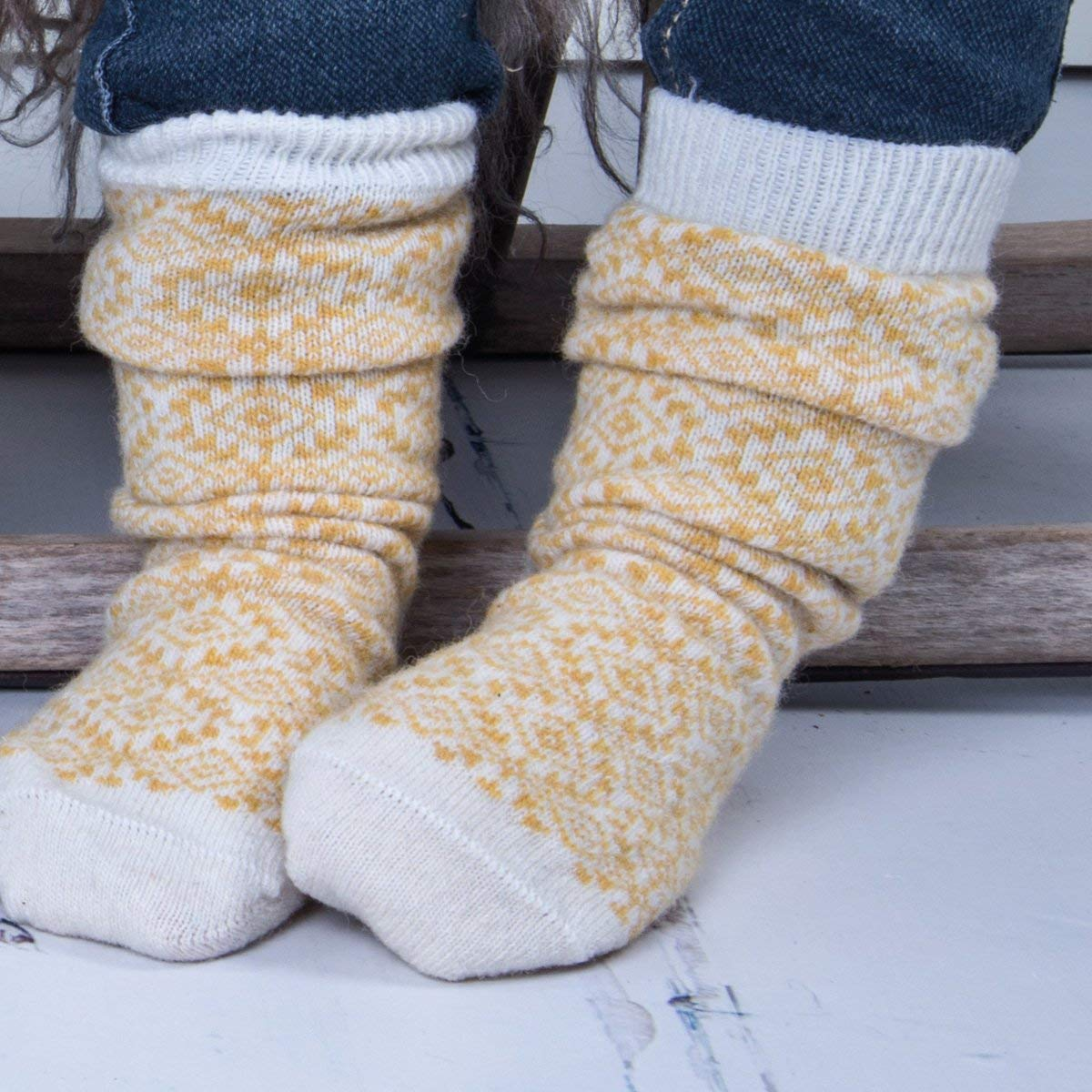 Melton Girls Wool Socks with Lurex