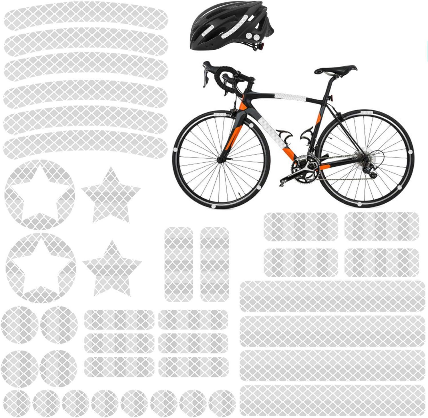 Reflektoren Aufkleber Sticker 38 Stück Hiperformance Reflexfolie Set Zur Sicherungs Markierung Von Kinderwagen Helmen Mit Stickern Selbstklebend Und Hochreflektierend Von Agptek Sport Freizeit