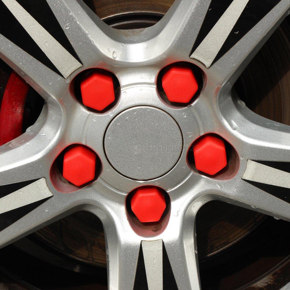 Soxid (TM) Automotive Coque en silicone de roue Vis à capuchon de protection pour Mercedes-Benz A200A180A260B180B200A200A250CLA GLA AMG