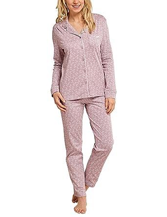 sports shoes 675b8 f547f Schiesser Damen Original Classics Pyjama Lang Zweiteiliger Schlafanzug