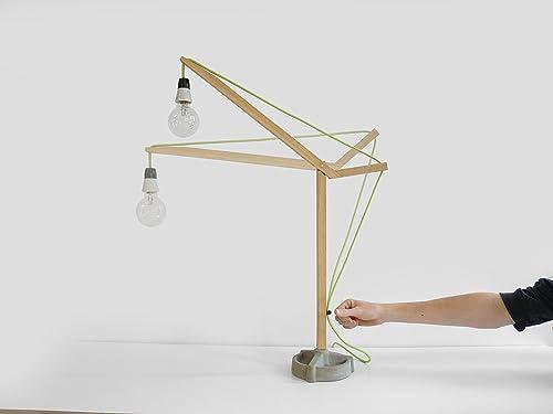 Costruire Lampada Da Tavolo Construct Desk Lamp Olandese Design A Mano Living Elettrodomestici Legno Modulare Lorier Amazon It Handmade