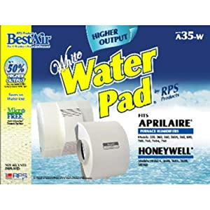 """BestAir A35W-PDQ-6 Humidifier Replacement Paper Waterpad Filter, for Aprilaire, American Standard, Bryant, Carrier, Honeywell, Lennox & Totaline Models, 13.2"""" x 10.2"""" x 1.8"""", Single Pack"""