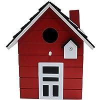 Nido Casa para pájaros 20cm multicolor (Rojo)
