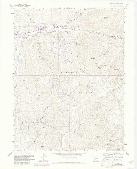 Amazon.com : YellowMaps Keystone CO topo map, 1:24000 Scale, 7.5 X ...
