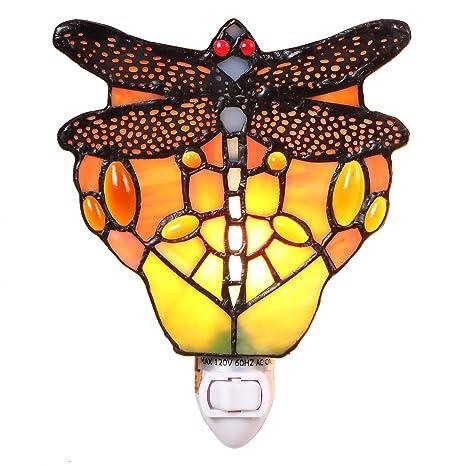 Amazon.com: bieye iluminación l11401 tiffany-style Vidrieras ...