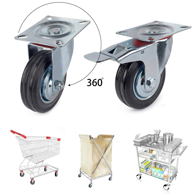 Rad Räder für den Innenbereich Transportrollen Lenkrollen mit Bremse Bockrollen