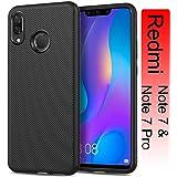 injoy xiaomi redmi note 7 pro case Carbon Fiber Textured Soft TPU Camera Protection Back Cover Case for Redmi Note 7/redmi Note 7 pro