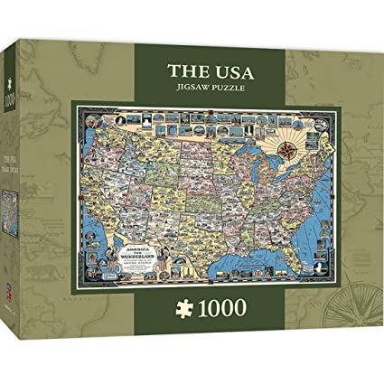 MasterPieces The USA Map 1000 Piece Jigsaw Puzzle