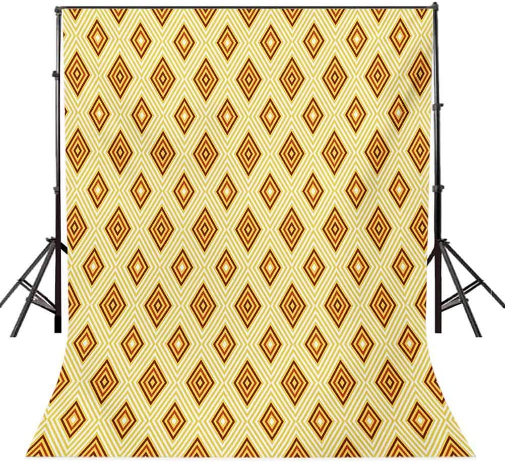 Retro 10x12 FT Backdrop Photographers,Old Fashioned Diamond Shapes with Inner Lines Sixties Style Rhombus Design Background for Child Baby Shower Photo Vinyl Studio Prop Photobooth Photoshoot