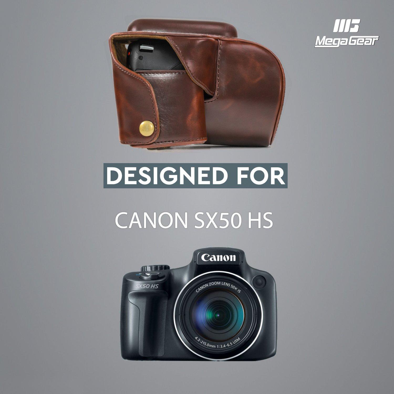 MegaGear Bolsa de Funda Protectora para Canon PowerShot SX50 HS (Oscuro Marrón)