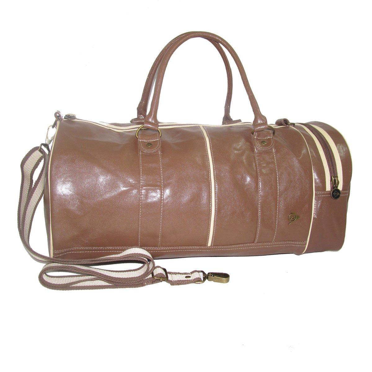 Dunlop Retro Gym Holdall Sports Weekend Barrel Shoulder Bag Black. Classic vintage design