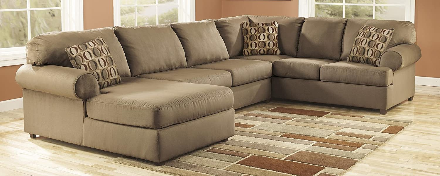 amazoncom ashley cowan sectional sofa with right arm facing sofa armless loveseat and left arm facing corner chaise in kitchen u0026 dining