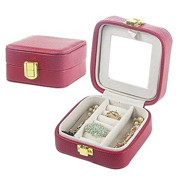 Amazoncom Small Travel Jewelry Box Organizer PU Leather Portable