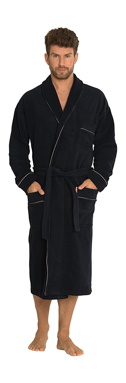 Forex Mens Soft Warm Long Dressing Gown Bathrobe Housecoat Loungewear Robe Classic/274