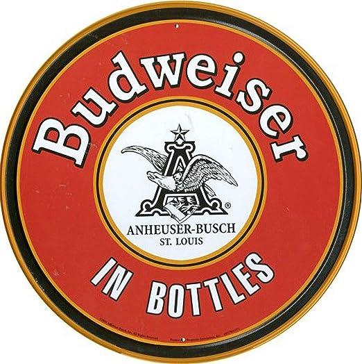 WallAdorn Budweiser En Botellas Cartel de Hierro Pintura ...
