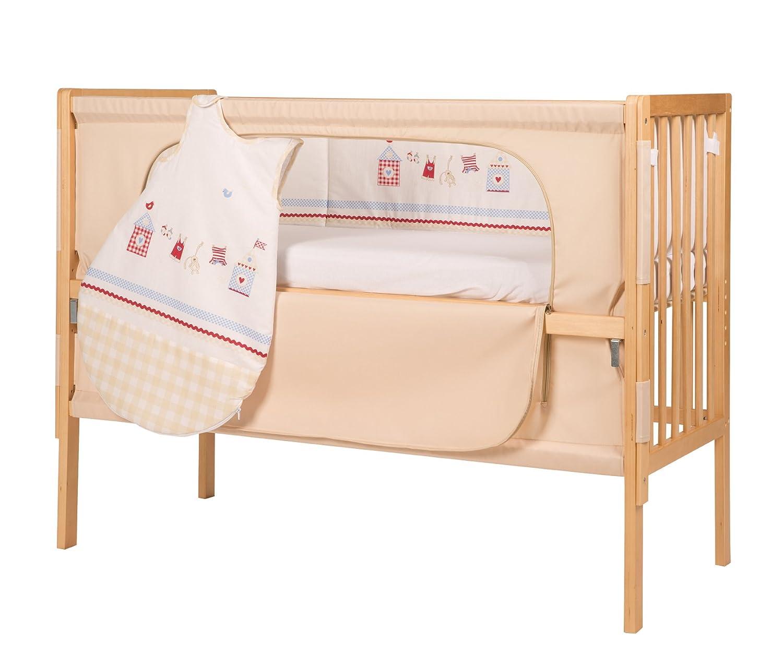 roba Roombed, Babybett 60x120 cm, Beistellbett zum Elternbett mit kompletter Ausstattung 16401-6 V172