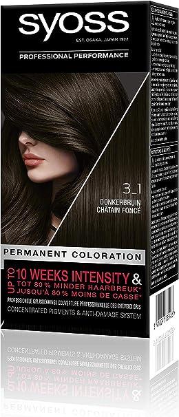 Syoss Color baseline 3-1 donkerbruin - Tinte para cabello (1 ...