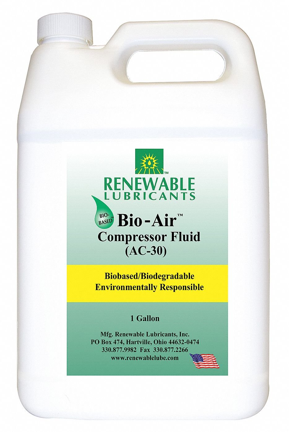 1 gal. Can of Compressor Oil by Renewable Lubricants
