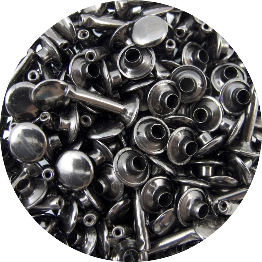 Springfield Leather Company's Gunmetal Large Extra Long Double Cap Rivets 50pk Hide House