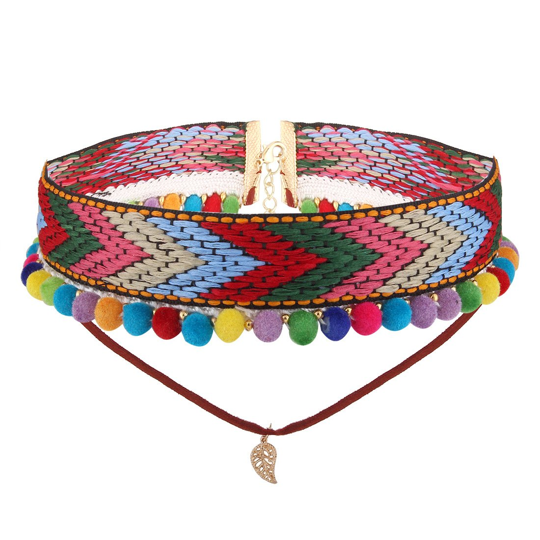 JYH Bohemian Fashion Necklace Vintage Ethnic Style Hand Knit Necklace