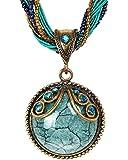 LNKRE JEWELRY Retro Bohemian Style Cat's Eye Stone Collar Necklace Pendant