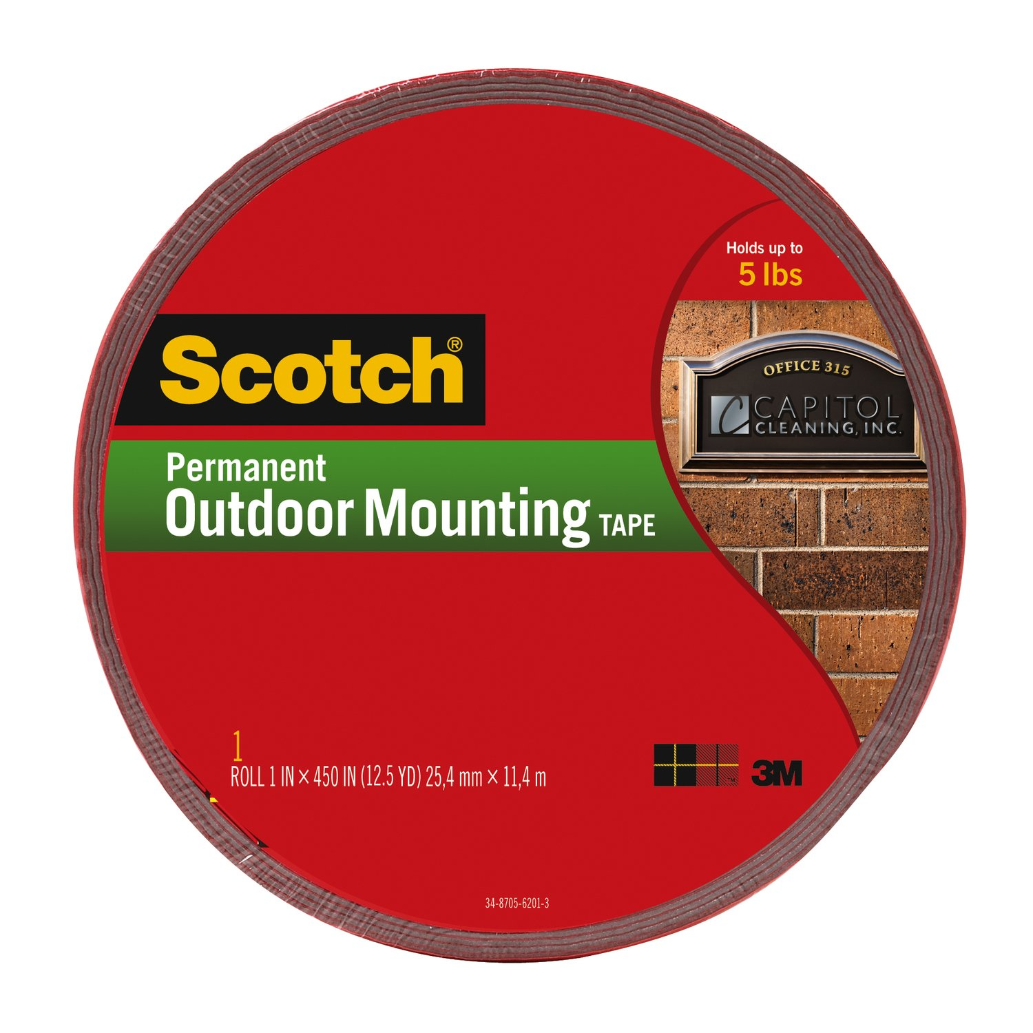 Amazoncom Scotch Permanent Outdoor Mounting Tape 1 Inch x 450