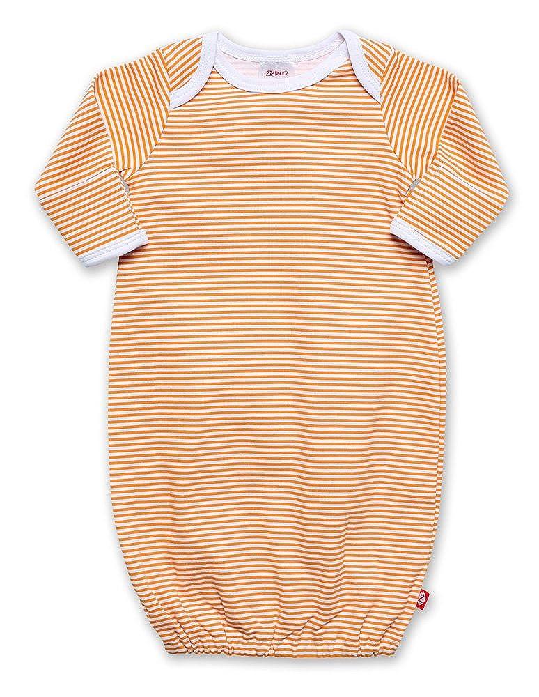 Zutano Candy Stripe Gown, Orange Newborn VIB39-Orange-Newborn