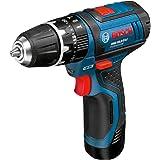 Bosch GSB 10,8 -2-LI - Taladro (Ión de litio, 10.8V, 30 min, 18.9 cm, 17.5 cm, 1 kg) Negro, Azul, Rojo