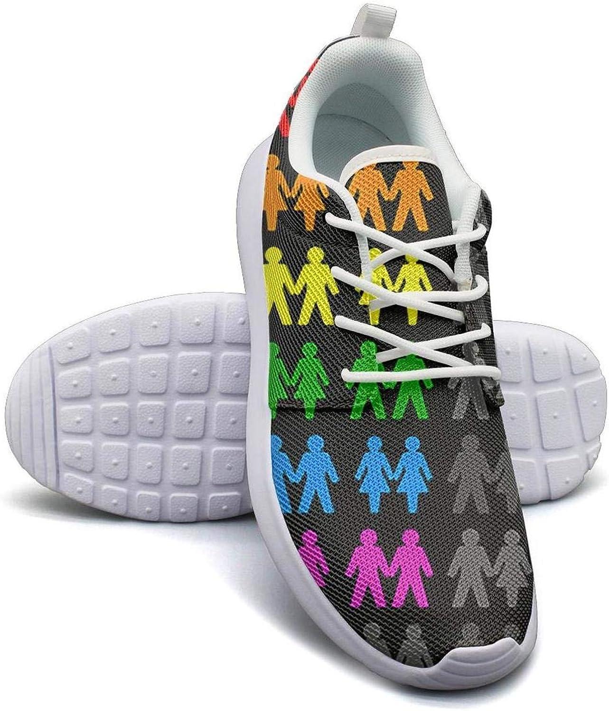 Rainbow Flag Hearts Gay Pride LGBT Mens