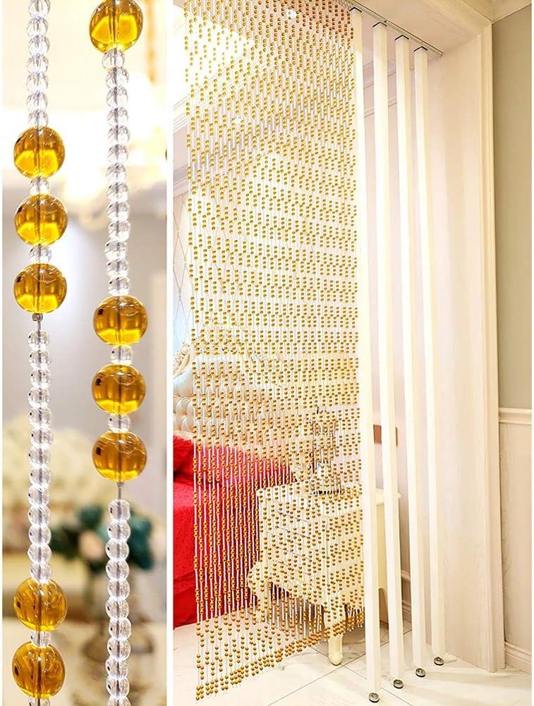 GuoWei-Cortinas de Cuentas Cristal Vaso Puerta Cortina Tabique Colgando Cuerdas Armario Salón Decoración, Personalizable (Color : A, Size : 40 strands-100x220cm): Amazon.es: Hogar