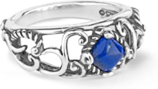 product image for Carolyn Pollack Sterling Silver Choice of Color Gemstone Band Ring Size 5 to 10