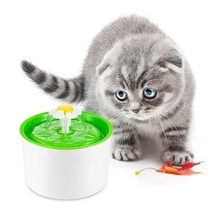 Foonee Dispensador de Agua para Gatos, Saludable e Higiénico Bebida Fuente 2L Super Silencioso Cuenco