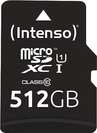Intenso Micro Sdxc 512gb Class 10 Speicherkarte Computer Zubehör