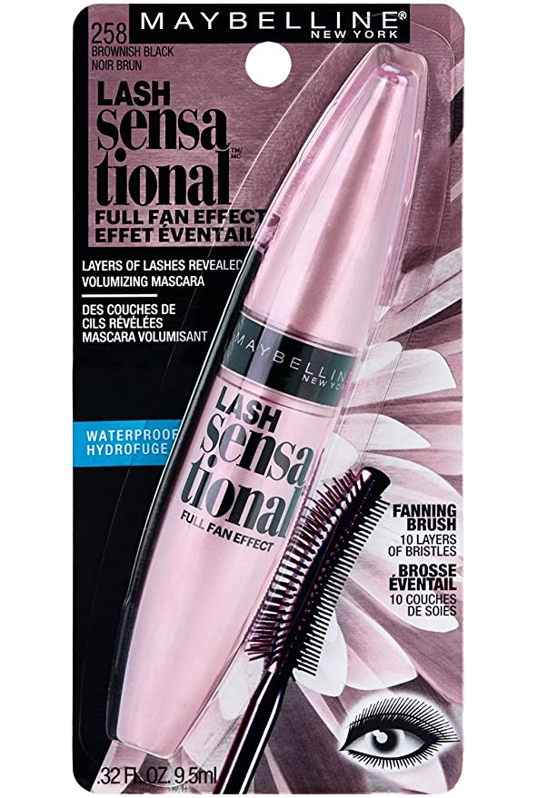 379bc5299d6 Buy Maybelline New York Lash Sensational Mascara, Waterproof Brownish Black,  0.3 Fluid Ounce Online at Low Prices in India - Amazon.in