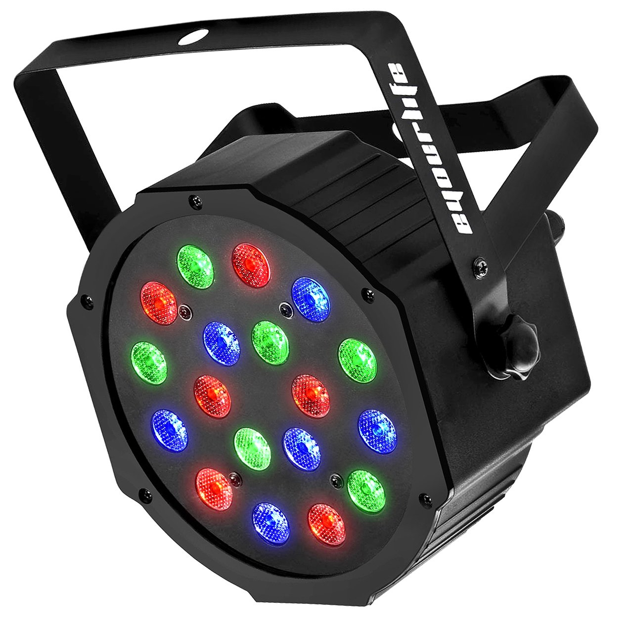 LED Par, Eyourlife LED Partylicht Discolicht Bü hnenlicht Par LED 30W Lichteffekt DMX512 RGB Stage Light 18LEDs -EU Stecker YMFR-18-3W-1Pc