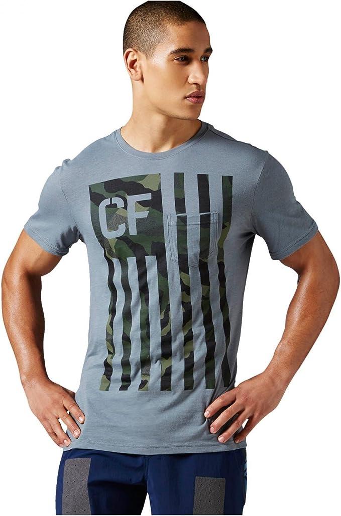 Reebok Crossfit – Camiseta para Hombre Camuflaje Flag Pocket té Alloy M: Amazon.es: Ropa y accesorios