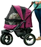 Pet Gear NO-ZIP Double Pet Stroller, Zipperless Entry, for Single or Multiple Dogs/Cats, Plush Pad + Weather Cover…