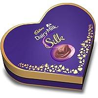 Cadbury Dairy Milk Silk Heart Shaped Valentine Gift Pack (2 x Silk 60g + 2 x Silk Oreo 60g), 240 g