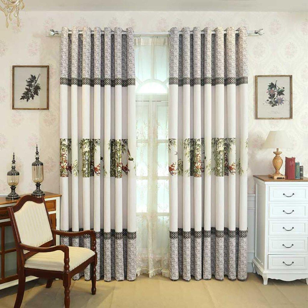 スーパーソフトソリッド断熱ブラックアウトカーテン寝室リビングローン装飾カーテンパンチのインストール(1組) (サイズ さいず : 250cm*270cm) 250cm*270cm  B07KFVB37C