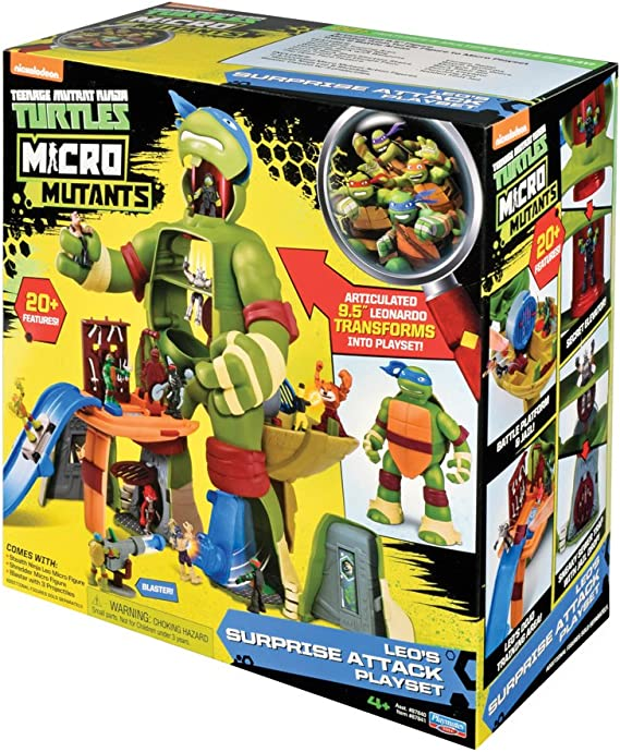Amazon.com: Micro Tortugas Ninja Mutantes Leo de un ataque ...