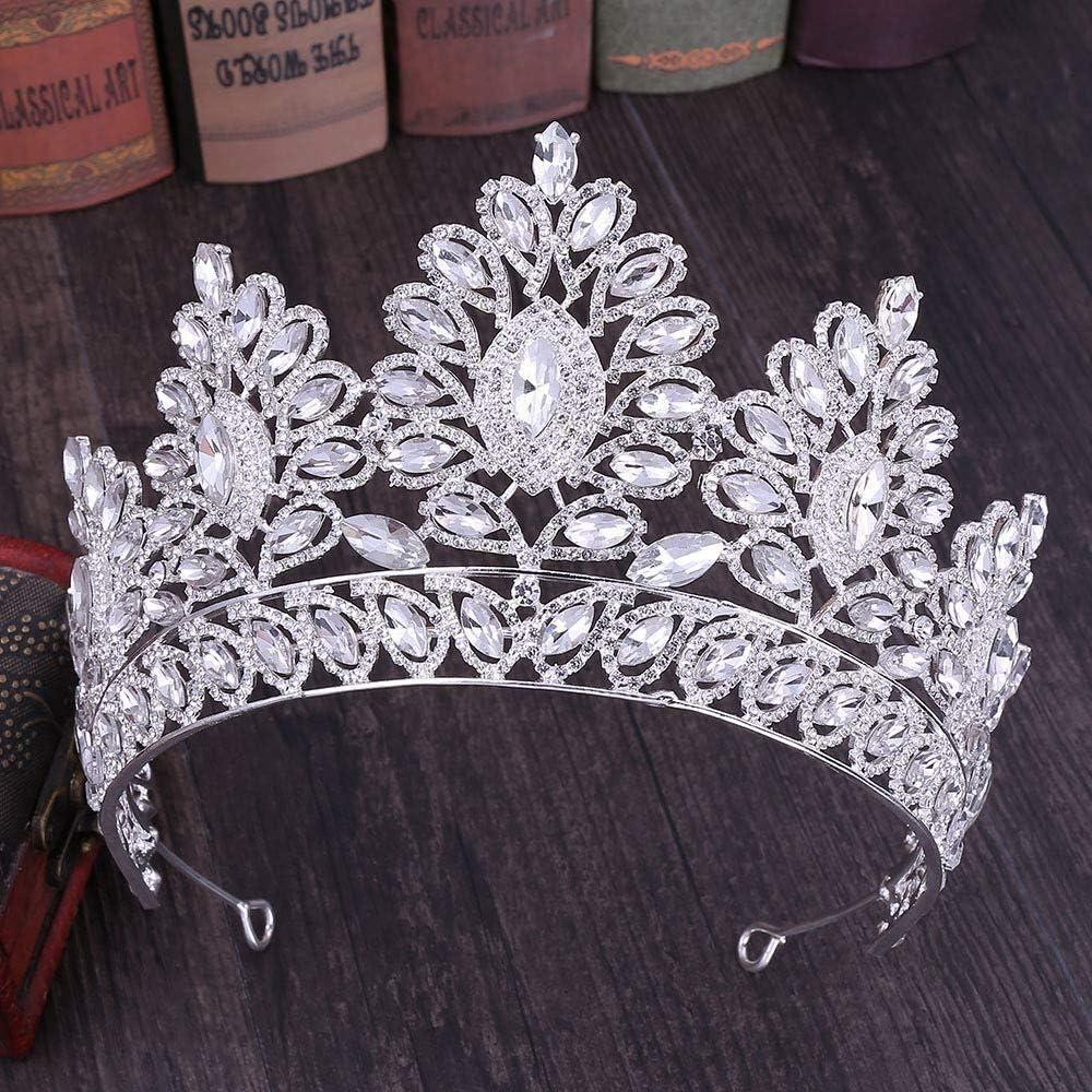 Tiaras Diamantes De Imitación Boda Nupcial Tocado Corona De Plata zm0329