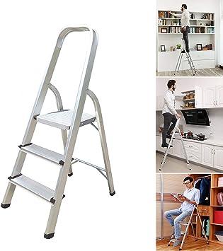 Escalera 3 4 5 6 7 8 peldaños, escalera portátil antideslizante, escalera plegable de aluminio resistente, 150 kg de capacidad EN131 UK Stock: Amazon.es: Bricolaje y herramientas