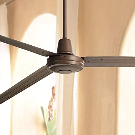 84 Turbina XL Industrial Outdoor Ceiling Fan with Remote Control Large Oil Rubbed Bronze Damp Rated for Patio Porch – Casa Vieja