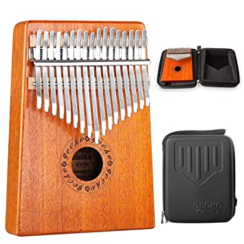 Kokosnussschale Finger Klavier 6 Key Kalimba Afrika Folk Musikinstrument